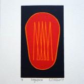 Eddystone, 150mm x 150mm, Linoprint. Edition 8