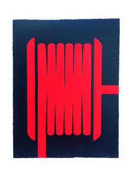 Enter and Exit, 445mm x 340mm, Woodblock. Edition size 5