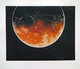Blood Moon, 235mm x 270mm, Relief & Carborundum. Edition 10